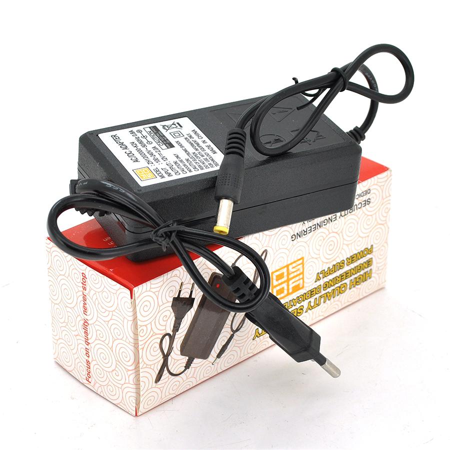 Купить Импульсный адаптер питания 12В 2А (24Вт) YOSO ZH1202000 штекер 5.5/2.5 + кабель питания,  длина  1м Q100