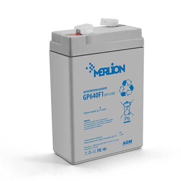 Купить Аккумуляторная батарея MERLION AGM GP645, 6V 4.5Ah  ( 70 x 47 x 100 (105) ) Q20