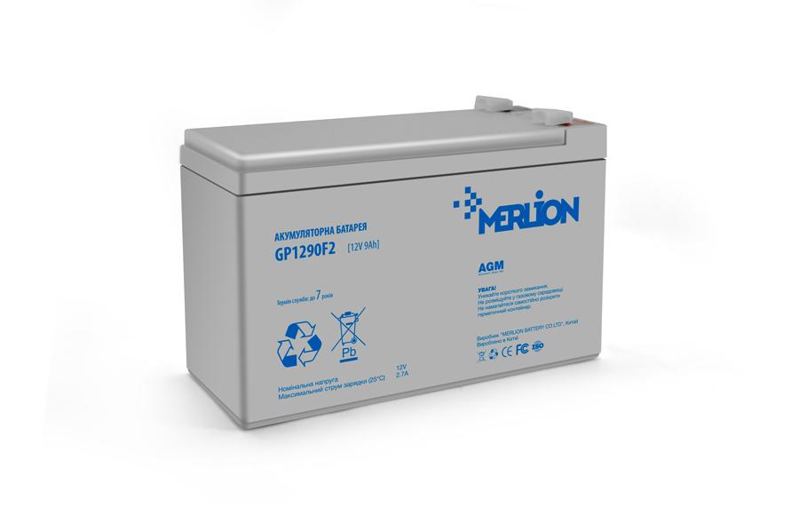 Купить Аккумуляторная батарея MERLION AGM GP1290F2 12 V 9 Ah ( 150 x 65 x  95 (100) ) White Q8