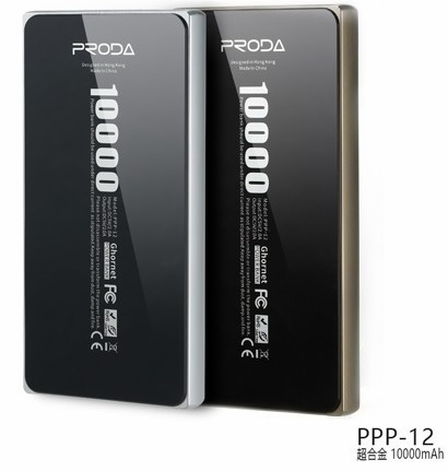 Купить Powerbank (Polymer Battery) Proda Super Alloy PPP-12, 2xUSB, 5V, 2.1A, 10000mAh, Silver, Blister