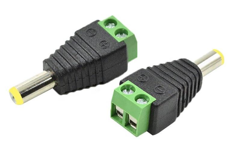 Купить Разъем для подключения питания DC-M (D 5,5x2,1мм) с клеммами под кабель (Yellow Plug)