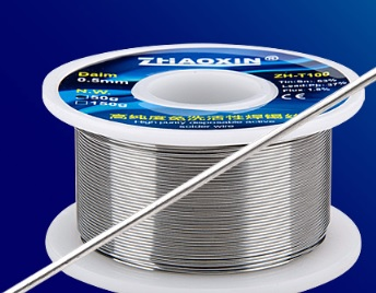 Купить Припой Zhaoxin ZH-TB100 диаметром 0,3 мм , состав: Sn 63%. Pb 37% Flux 1.8% Вес 50 гр