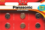 Купить Батарейка литиевая Panasonic Litium Power CR-2016EL/6BP, CR2016, 3V, блистер 6шт, цена за уп.