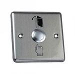 Купить Кнопка выхода врезная, NO/NC/C, алюминий, максим.ток 3А, 86х86х20мм