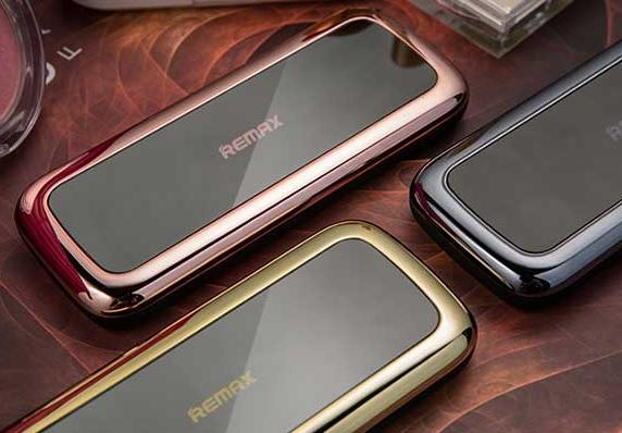 Купить Powerbank (Polymer Battery) Remax Mirror RPP-36, 1xUSB, 5V, 1A, 10000mAh, Rose Gold, Blister