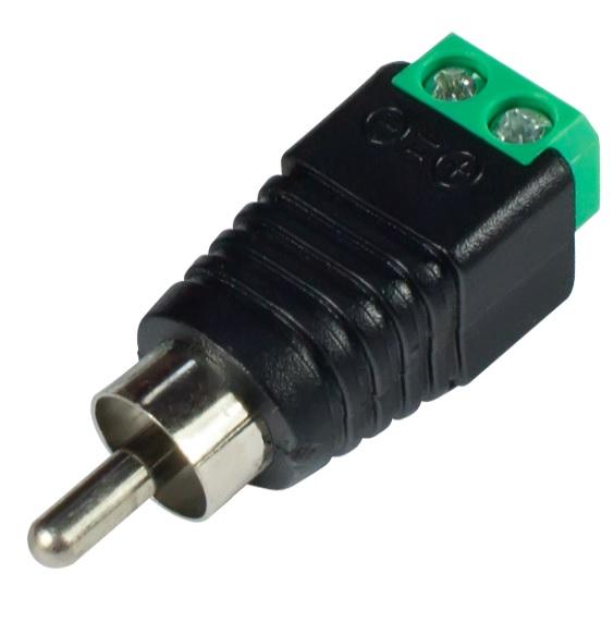 Купить Разъем для подключения питания RCA-M с клеммами под кабель