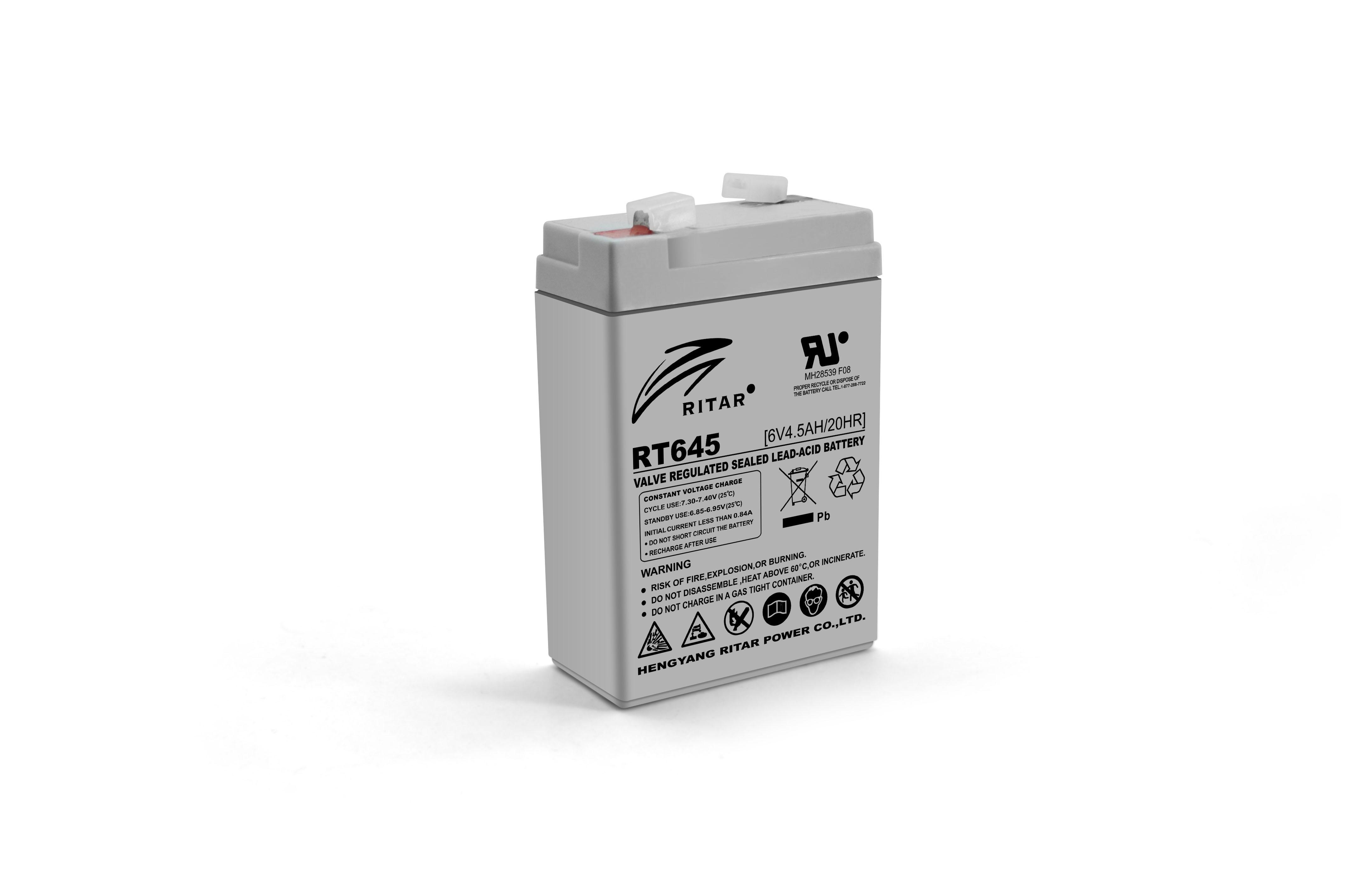 Купить Аккумуляторная батарея AGM RITAR RT645, Gray Case, 6V 4.5Ah  ( 70х47х99 (105) ) Q20