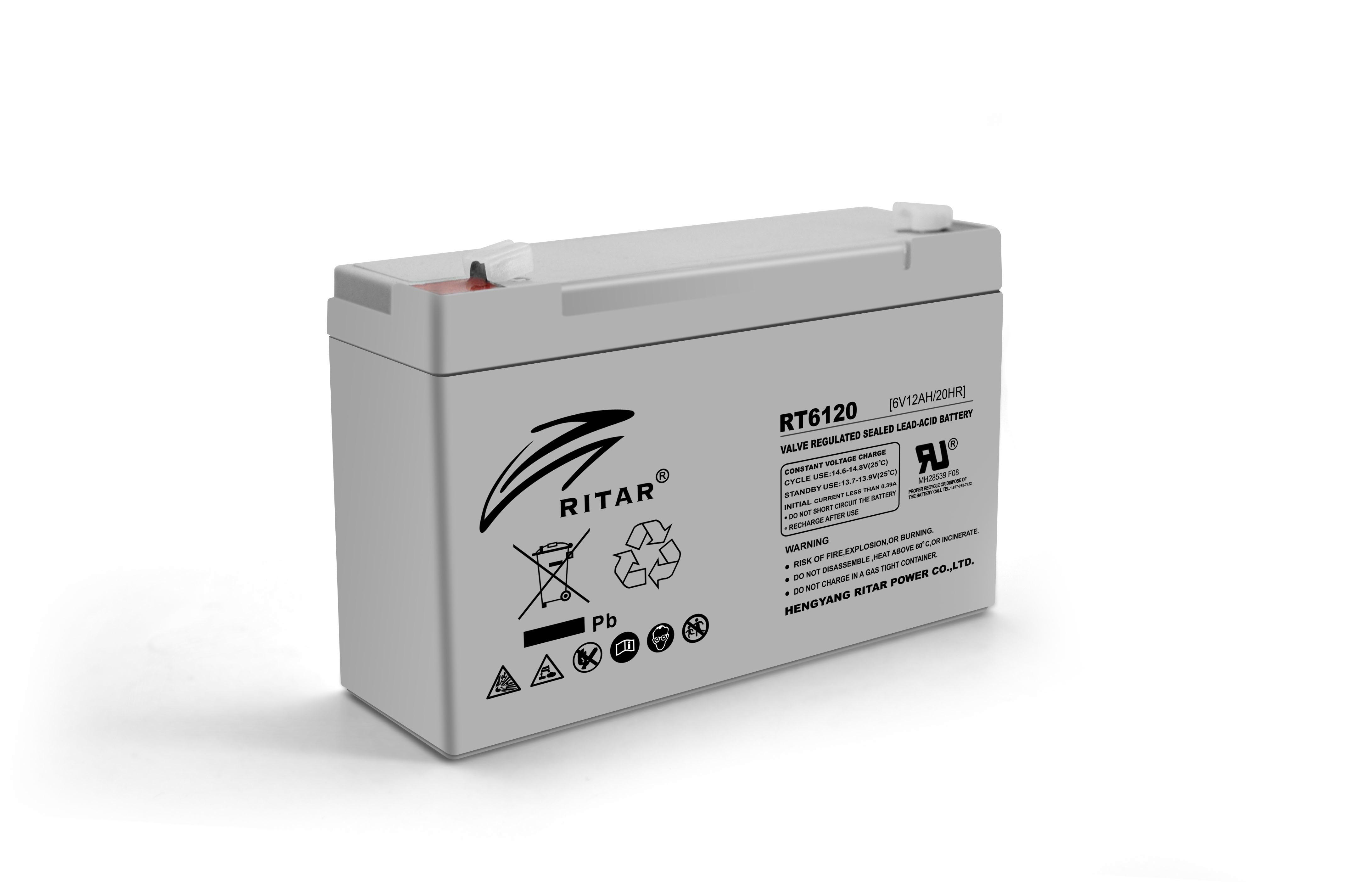 Купить Аккумуляторная батарея AGM RITAR RT6120A, Gray Case, 6V 12Ah  ( 150 х 50 х 93 (99) ) Q10