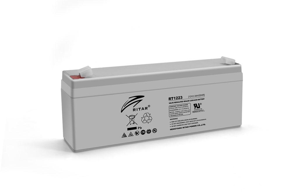 Купить Аккумуляторная батарея AGM RITAR RT1223, Gray Case, 12V 2.3Ah  ( 177 х 35 х 62 (68) ) Q10