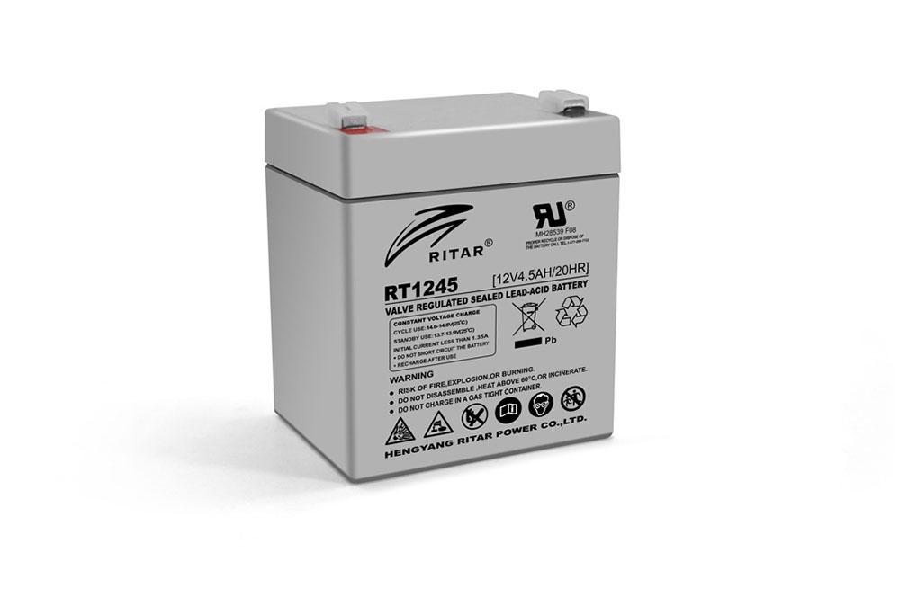 Купить Аккумуляторная батарея AGM RITAR RT1245, Gray Case, 12V 4.5Ah  ( 90 х 70 х 101 (107) ) Q10