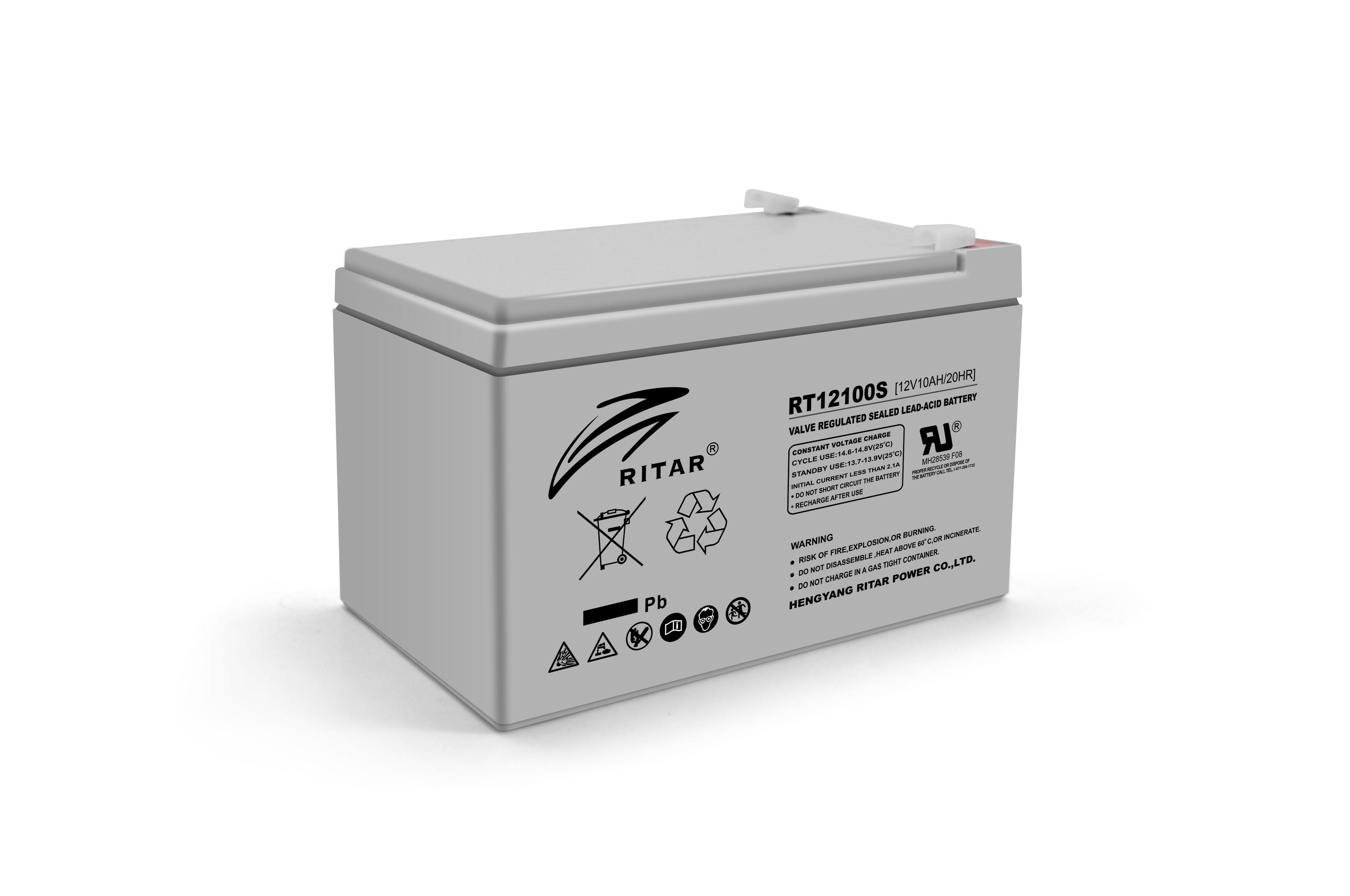 Купить Аккумуляторная батарея AGM RITAR RT12100S, Gray Case, 12V 10.0Ah  ( 151 х 65 х 111 (117 ) ) Q10