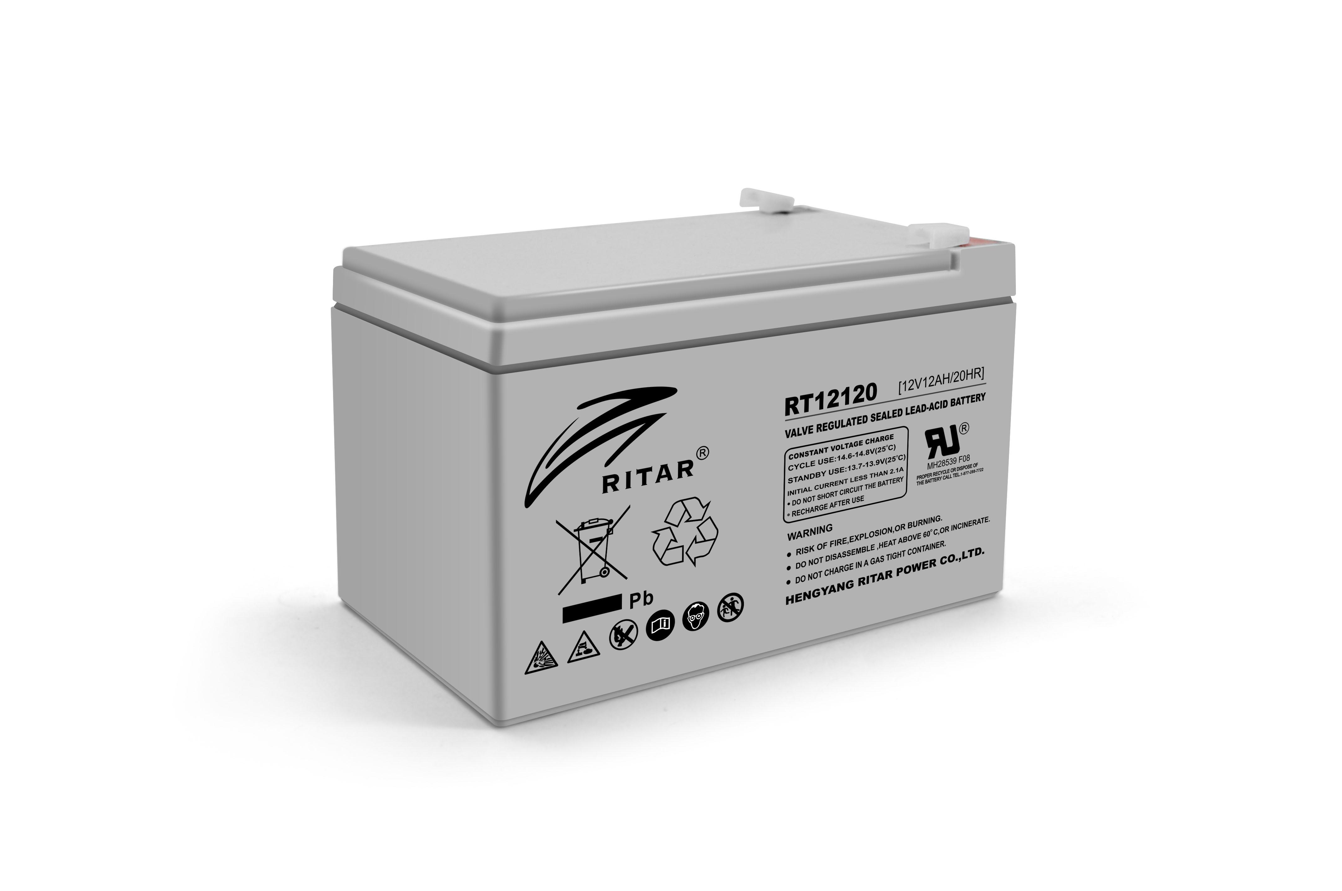 Купить Аккумуляторная батарея AGM RITAR RT12120, Gray Case, 12V 12.0Ah  (151х98х 95 (101) ) Q4