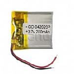 Купить Литий-полимерный аккумулятор 4*13*20mm (80mAh 3,7V)