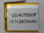 Купить Литий-полимерный аккумулятор 4*63*65mm (2800mAh 3,7V)