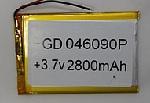 Купить Литий-полимерный аккумулятор 4*40*70mm (2000mAh 3,7V)