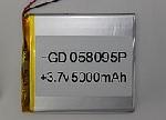 Купить Литий-полимерный аккумулятор 5*80*95mm (5000mAh 3,7V)