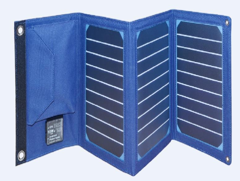 Купить Power bank 8000 mAh Solar, (5V/200mA), 2xUSB, 5V/1A/2,1A, USB  microUSB, ударо защищеный прорезиненный корпус, Blue, Corton BOX