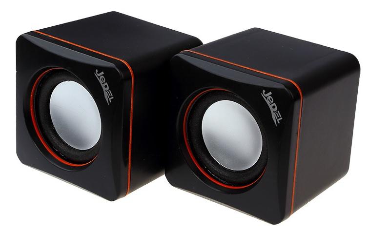 Купить Колонки 2.0 JEDEL JD-CK4 USB+3.5mm, 2x3W, 90Hz- 20KHz, с регулятором громкости, Black, BOX, Q80