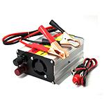 Купить Инвертор напряжения N/N 500, 300Вт, 12/220 с аппроксимированной синусоидой, зарядка аккумулятора 1А, 1 евророзетка, клемы + провода
