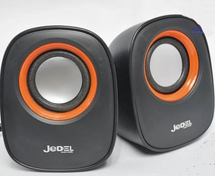 Купить Колонки 2.0 JEDEL JD-M600 USB+3.5mm, 2x3W, 90Hz- 20KHz, с регулятором громкости, Black/Orange, BOX, Q50