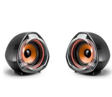 Купить Колонки 2.0 JEDEL JD-А7 USB+3.5mm, 2x3W, 90Hz- 20KHz, с регулятором громкости, Black/Orange, BOX, Q40