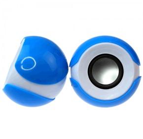 Купить Колонки 2.0 JEDEL JD-S609/T-300 USB+3.5mm, 2x3W, 90Hz- 20KHz, с регулятором громкости, Blue/White, BOX, Q50