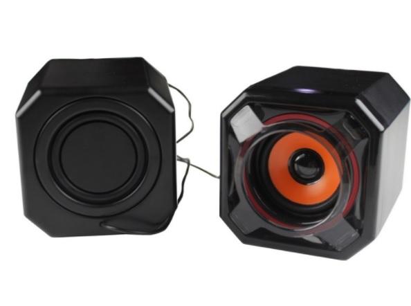 Купить Колонки 2.0 JEDEL JD-A8 USB+3.5mm, 2x3W, 90Hz- 20KHz, с регулятором громкости, Black, BOX, Q24