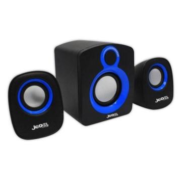 Купить Колонки 2.1 JEDEL JD-SD003 USB+3.5mm, 2x3W, 90Hz- 20KHz, с регулятором громкости, Black/Blue, BOX, Q30