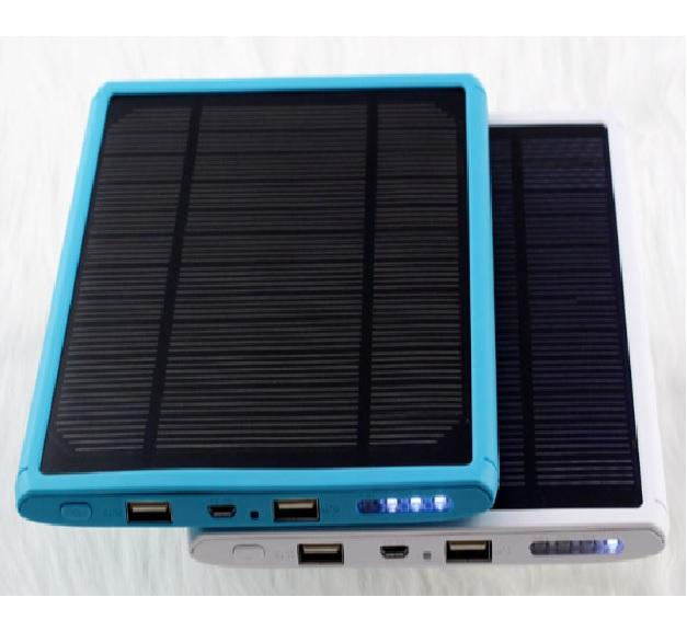 Купить Power bank 30000 mAh Solar, (5V/200mA), 2xUSB, 5V/1A/2.1A, USB  microUSB, влаго/ударо защищеный прорезиненный корпус, Black/Orange, Corton BOX