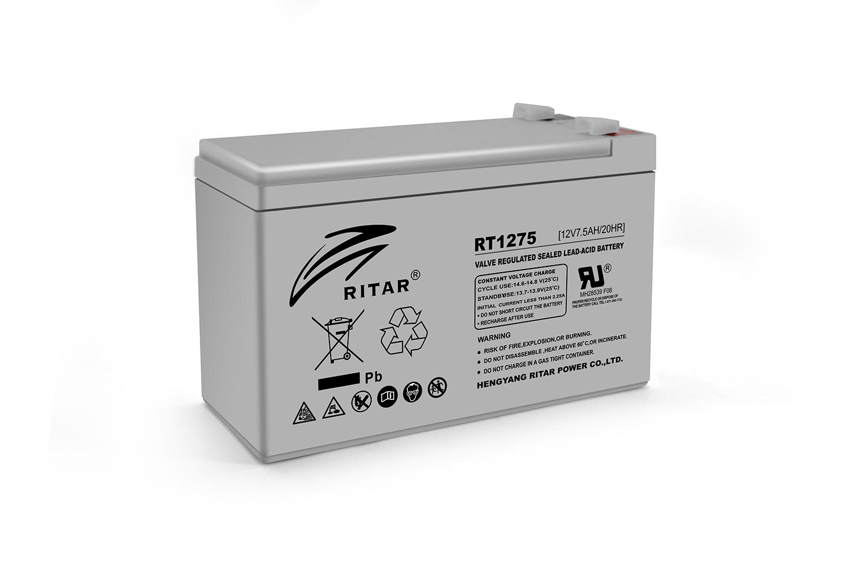 Купить Аккумуляторная батарея AGM RITAR RT1275, Gray Case, 12V 7.5Ah  ( 151 х 65 х 94  (100) ) Q10