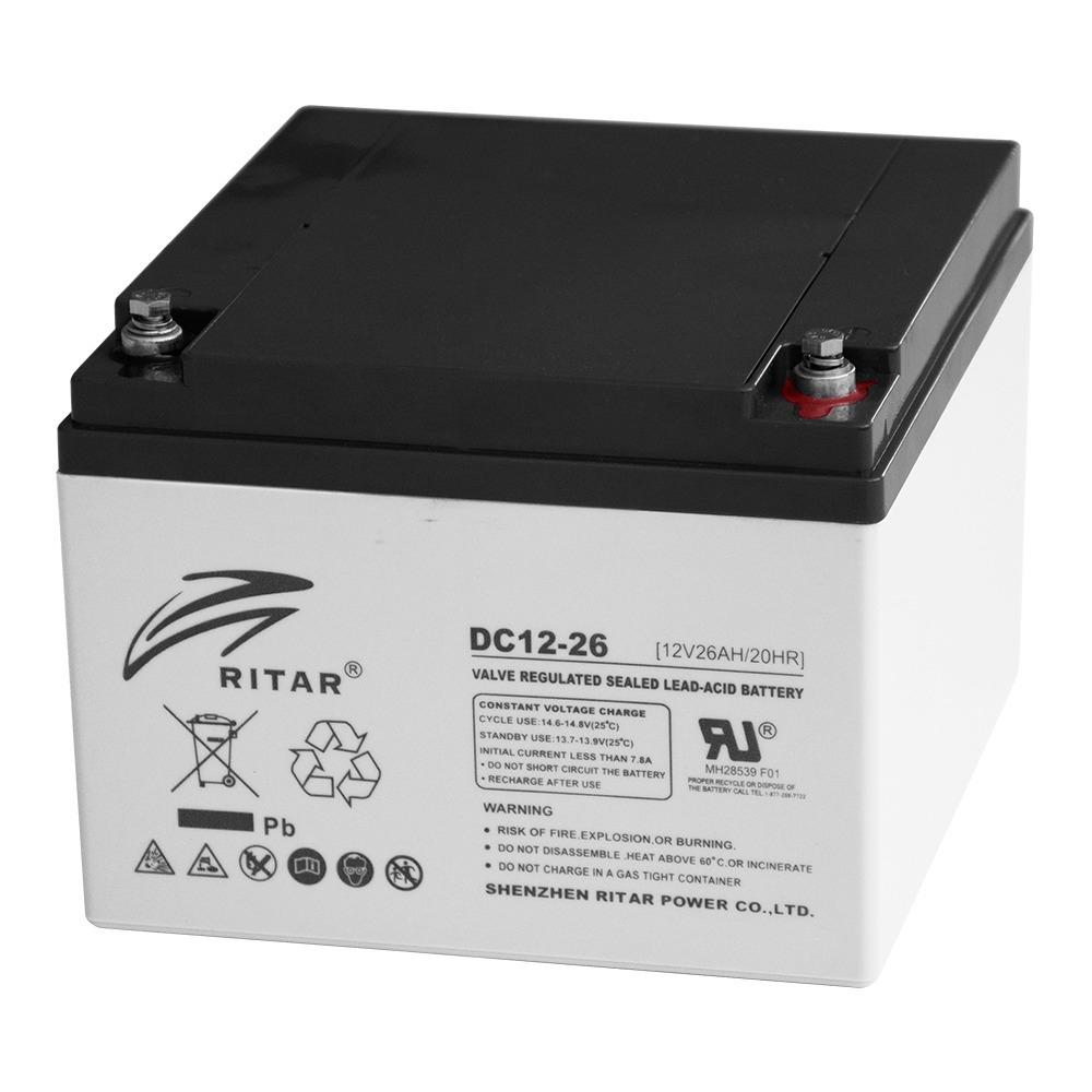 Купить Аккумуляторная батарея AGM RITAR RT12260, Gray Case, 12V 26.0Ah  (166 х 178 х125 ) Q1