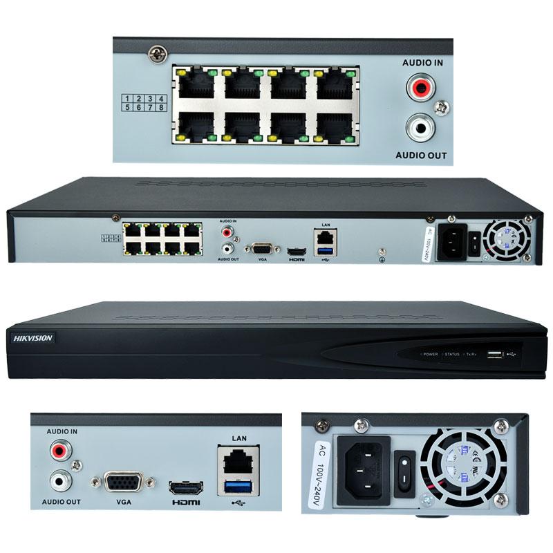 Купить 8 канальный Hikvision DS-7608NI-E2