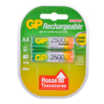 Купить Аккумулятор АA GP 250AAHC-2UEC2, 2500mAh, 2шт в блистере, цена за блистер