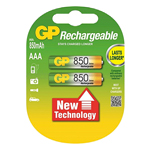 Купить Аккумулятор АAA GP 85АAAHC-2UЕС2, 850mAh, 2шт в блистере, цена за блистер