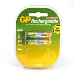 Купить Аккумулятор АAA GP 100АAAHC-UС2, 1000mAh, 2шт в блистере, цена за блистер