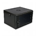 Купить Шафа 4U, 600x350x284мм (Ш*Г*В), економ, акрилове скло, чорна
