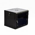 Купить Шафа 6U, 600x500x373мм (Ш*Г*В), економ, акрилове скло, чорна