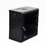 Купить Шафа 12U, 600x350x640мм (Ш*Г*В), економ, акрилове скло, чорна