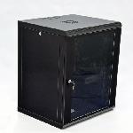 Купить Шафа 15U, 600x500x773мм (Ш*Г*В), економ, акрилове скло, чорна