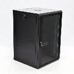 Купить Шафа 15U, 600x600x773мм (Ш*Г*В), економ, акрилове скло, чорна