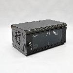 Купить Шафа 4U, 600х350х284 мм (Ш*Г*В), акрилове скло, чорна