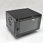 Купить Шафа 6U, 600х500х373 мм (Ш*Г*В), акрилове скло, чорна