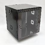 Купить Шафа 12U, 600х600х640 мм (Ш*Г*В), акрС–лове скло, чорна