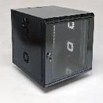 Купить Шафа 12U, 600х700х640 мм (Ш*Г*В), акрилове скло, чорна