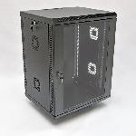 Купить Шафа 15U, 600х500х773 мм (Ш*Г*В), акрилове скло, чорна