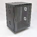 Купить Шафа 15U, 600х600х773 мм (Ш*Г*В), акрилове скло, чорна