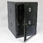 Купить Шафа 18U, 600х800х907 мм (Ш*Г*В), акрилове скло, чорна