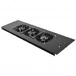 Купить 3-х вентиляторний блок в кришу для шаф MGSE 610 шир., чорний