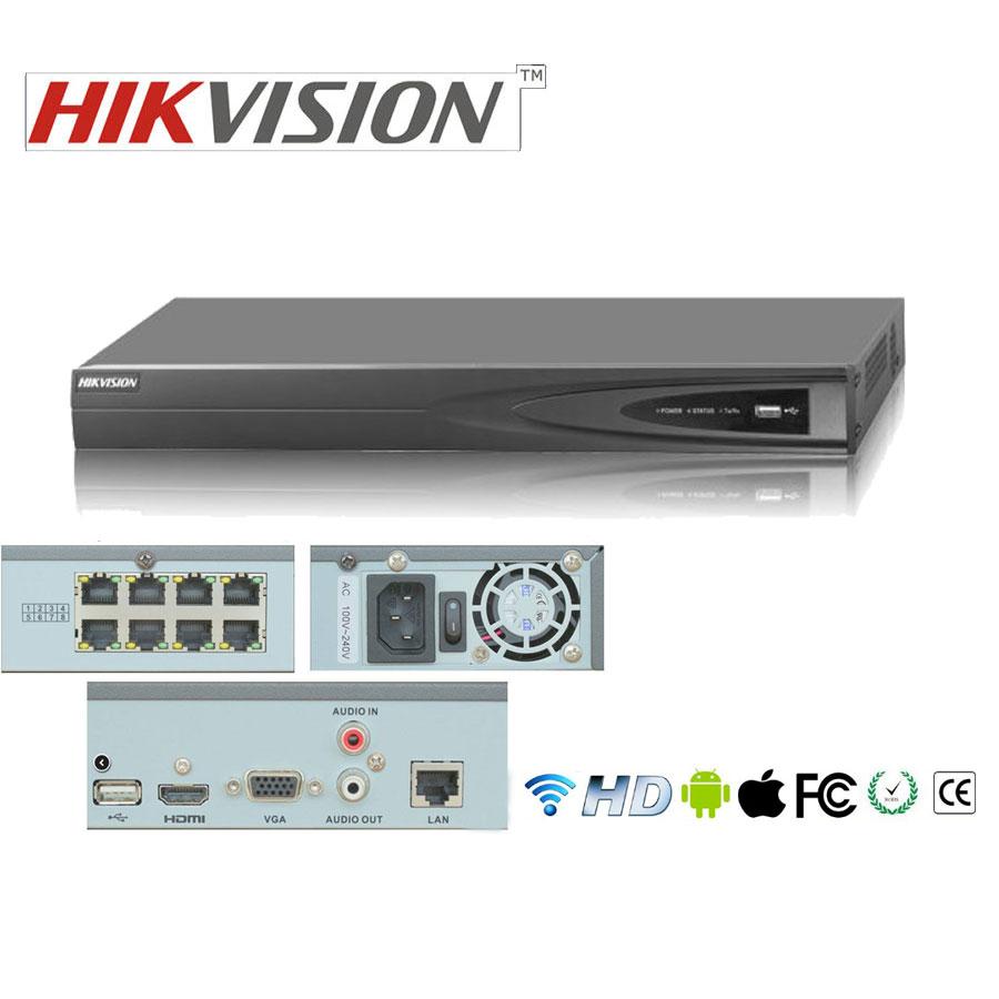 Купить 16 канальный HIkvision DS-7616NI-E2-8P (POE 8 каналов)