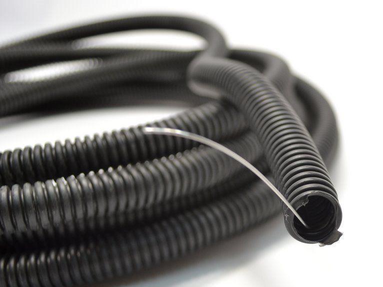 Купить Гофра D25 негорючая (100м) цвет черный